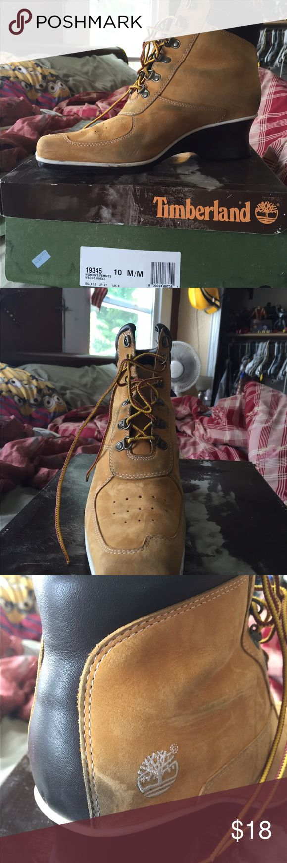 Ladies timberland boots Ladies boots show some wear, still have lots of life left Timberland Shoes Lace Up Boots