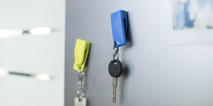 Once Stikey is attached to your keys you can magnetically mount them on any metal surfaces! April on Kickstarter! http://stikey.co.uk/