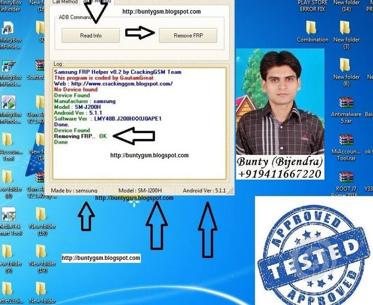 Samsung J2 J200H FRP Unlock Tested Solution http://ift.tt/2jVK5ny http://ift.tt/2jVIv4Y Samsung Samsung J2 Samsung J200H Samsung Software  Remove Frp Lock From Samsung J2 J200H Tested Solution Samsung SM-J200H Byepass Frp LockHave a look what this tool can do.  Bypass almost every FRP protection by ADB. (Need combination firmware).  This tool has 2 methods to bypass FRP (a) Calling Method (Real Term Method) and (b) ADB Method.  Easy to use. User friendly GUI.  Auto detect ADB device when…