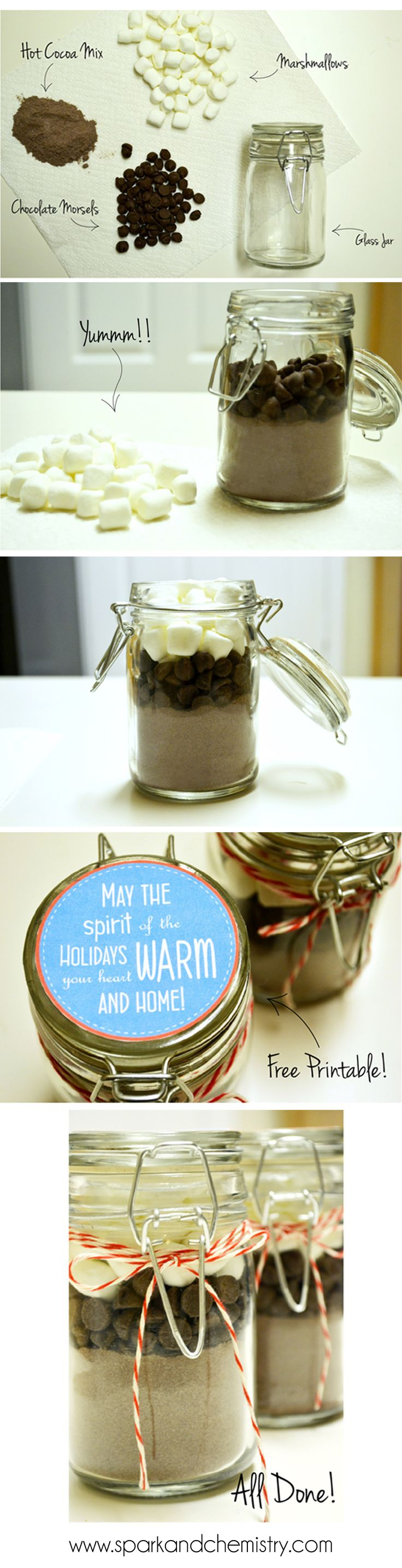 Hot Chocolate in a Jar gift