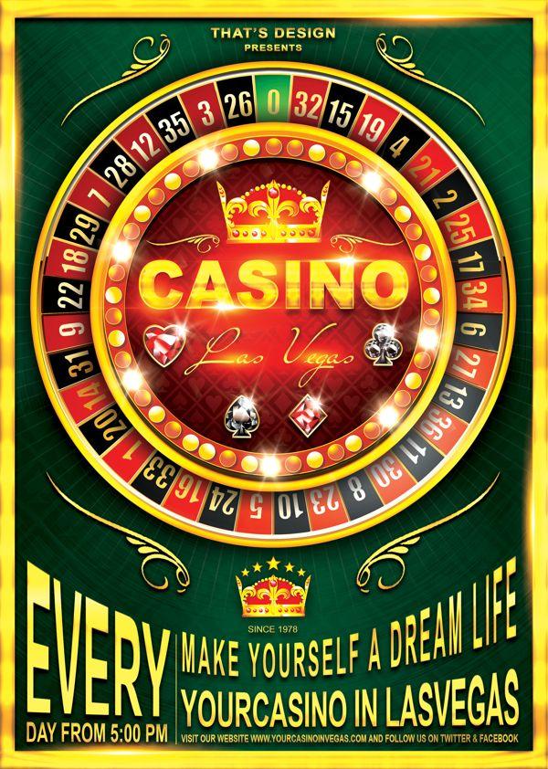 Casino Flyer Template V2 by That's Design, via Behance