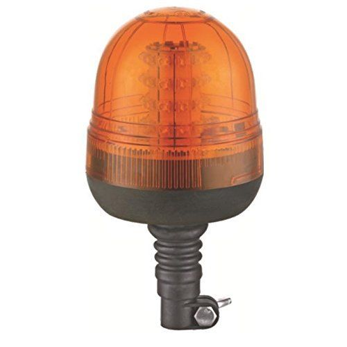 JBM 52456 Gyrophare LED 12-24 V Base Flexible: Gyrophare LED 12-24 Volt base flexible a LED. Apte pour 12V et 24V. Coque ABS-BAES. Tulipe…