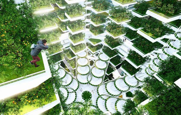 garden apartment skyscraper