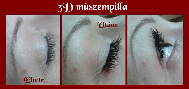 3D lashes Before - After / Előtte - Utána 3D pilla http://www.reikicentrum.hu/index.php/kozmetika/3d-muszempilla
