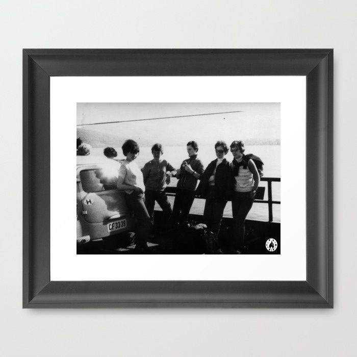 """""""Crossing via ferry"""" framed art print by Fluxionist on Society6"""