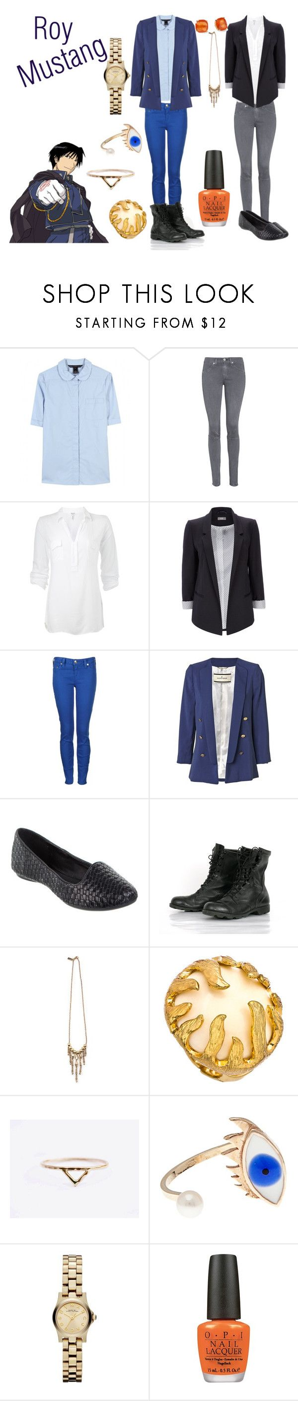 """Roy Mustang"" by casualanime ❤ liked on Polyvore featuring Marc by Marc Jacobs, rag & bone/JEAN, Splendid, Wallis, True Religion, By Malene Birger, SPURR, Kate Spade, Vanessa Mooney and Blu Bijoux"