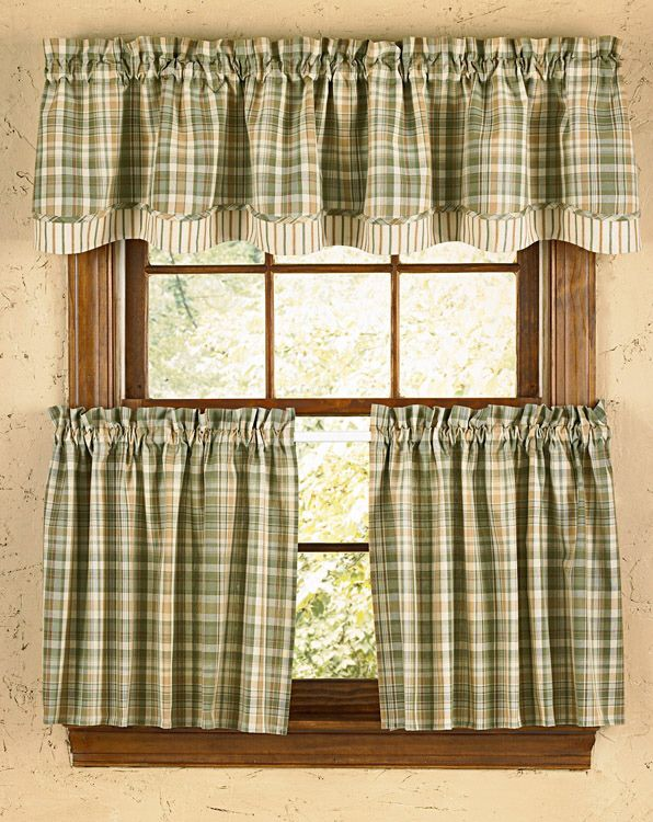 The Country Porch Features Rosemary Lined Layered Valances From Park  Designs.