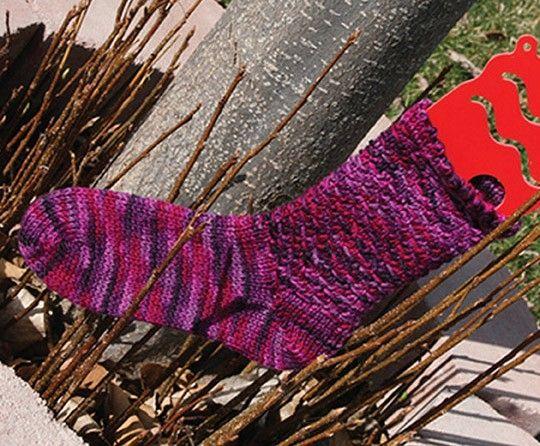 Mary Maxim - Double Woven Socks Pattern - Free Patterns - Patterns