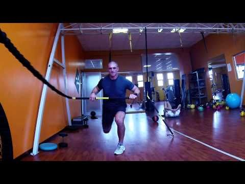 GOPRO TRX AND RIP: FRONTAL LUNGE ROW PADDLEBOARD PITCHFORK