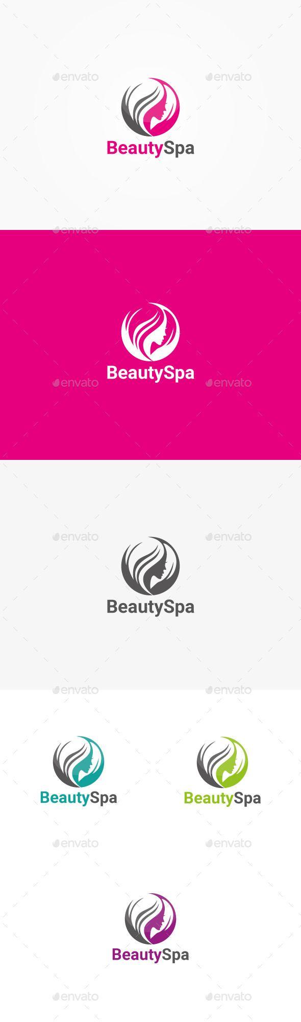 Beauty & Hair Salon Logo Template Vector EPS, AI. Download here: http://graphicriver.net/item/beauty-hair-salon-logo/10792747?ref=ksioks