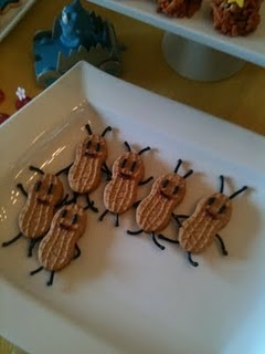 Ants from Nutter Butters!: Birthday Parties, Nutter Butter, Black Licorice, Parties Ideas, 2Nd Birthday, Gabba Gabba, Bugs Cookies, Oski Bugs, Birthday Ideas