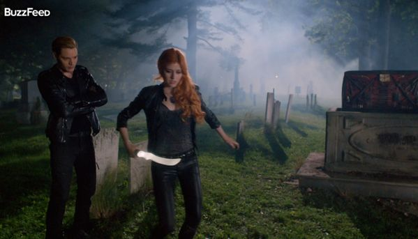 Jace and Clary in the new Shadowhunters Trailer