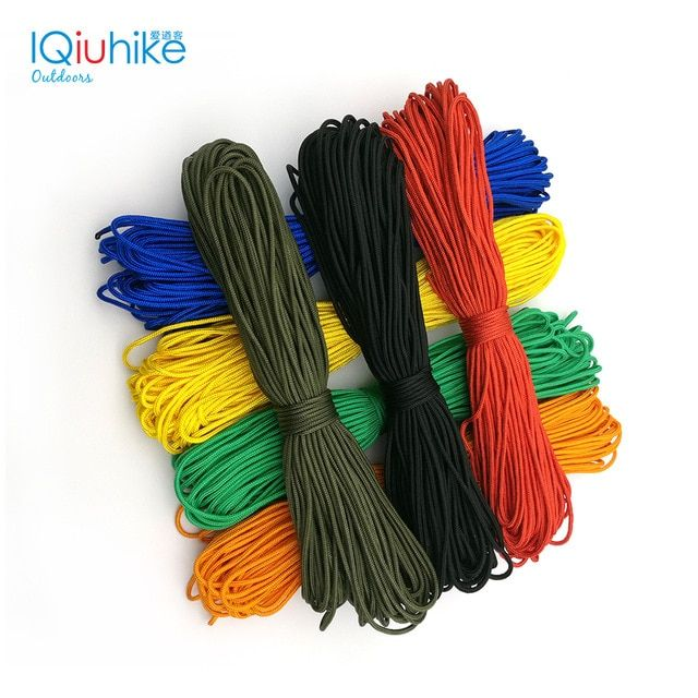 50ft 15 Meters Dia 2mm One Stand Cores Paracord For Survival Parachute Cord Lanyard Camping Climbing Camping Rope Hiking Review Camping Rope Paracord Parachute Cord