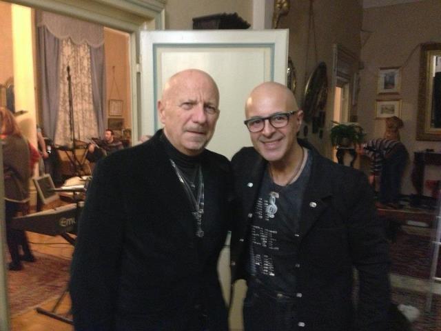 Con il grande Guido Elmi dopo la registrazione del programma per Rai5
