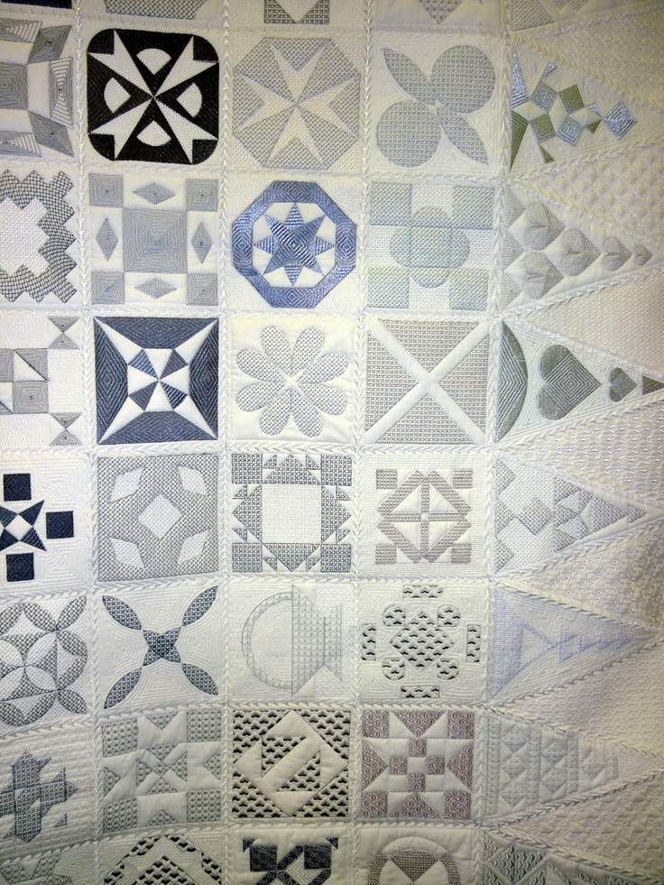 """""""Forty Shades of Gray"""", a Dear Jane quilt, 2013 Australian Quilters Association show.  Photo by Linda Bear at Pin Money Quilts"""