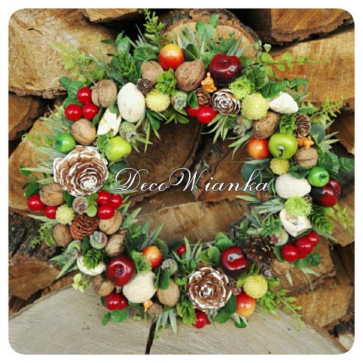 Wianek dekoracyjny,wianek,wianki,wystrój wnętrz,wnętrze,kompozycja kwiatowa,kwiaciarnia,kwiaty,home,sweet home,dekoracje,dekoracja,deco,decoration,