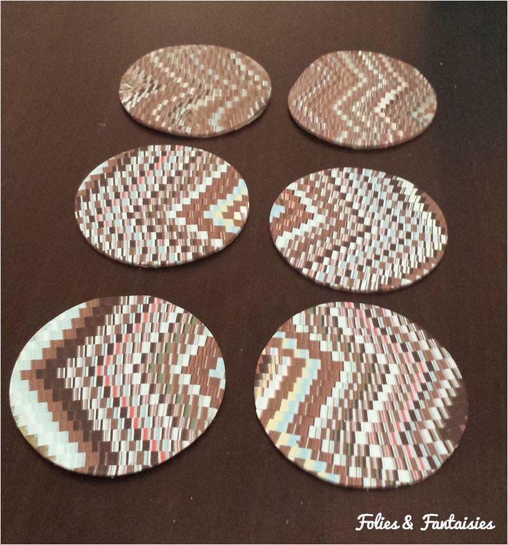 Polymer clay coasters Folies & Fantaisies