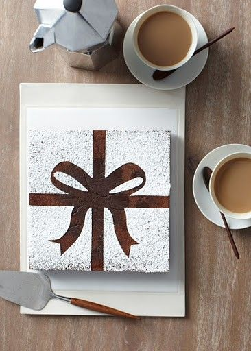 easy cake decoration. Cut out my own design and do this with colored sugar!!!!!