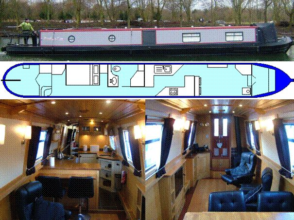 BWTHYN DWR £75,000 A 60ft, 2010 Aqualine, with Isuzu and a PRM Boat safety valid to 2022