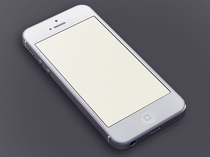 White iPhone5 Template | Fribbble