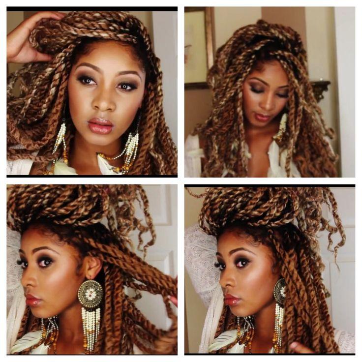 Blonde Havana twists, Marley twists, jumbo Senegalese twists