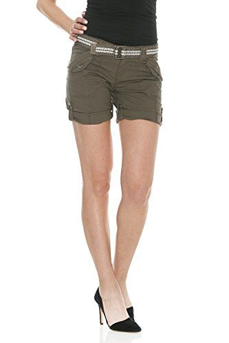 Special Offer: $34.99 amazon.com Suko Womens Bermuda Cargo Shorts Adjustable Poplin and Belted. The Sukopoplin shorts are made from the perfect cotton twill poplin with just the right amount of stretch.These shorts have an adjustable 'roll-up' feature with cool metal buttons so...