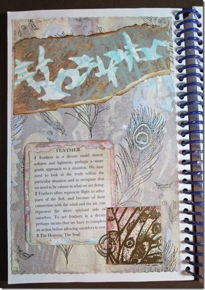 Altered Dictionary Journal page using my frist Gelli Prints