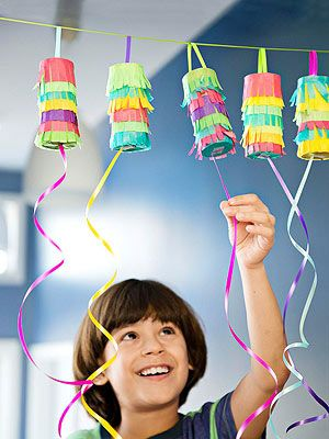 Pull-Open Piñatas: Make these individual-size treat holders for Cinco de Mayo or as an alternative to favour bags for your next party.