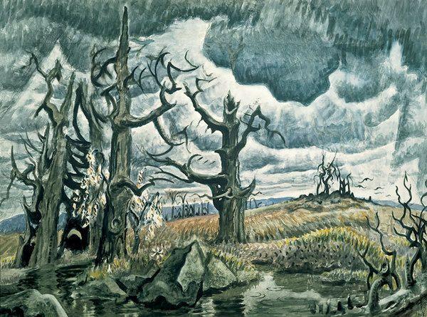Charles Burchfield, a master at creepy, vibrant atmosphere