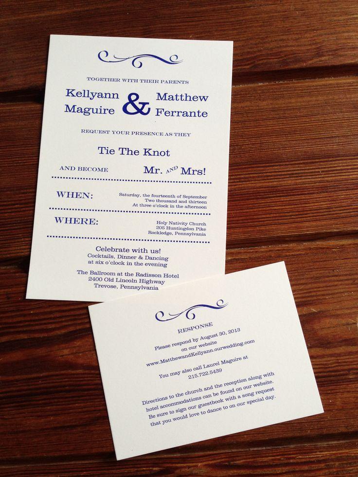 Country rustic wedding invitation Fun and unique