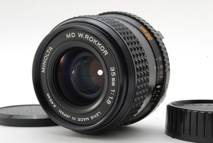 **EXC++++** MINOLTA MD W.ROKKOR 35mm F/1.8 Wide Angle MF LENS w/Case From Japan #Minolta