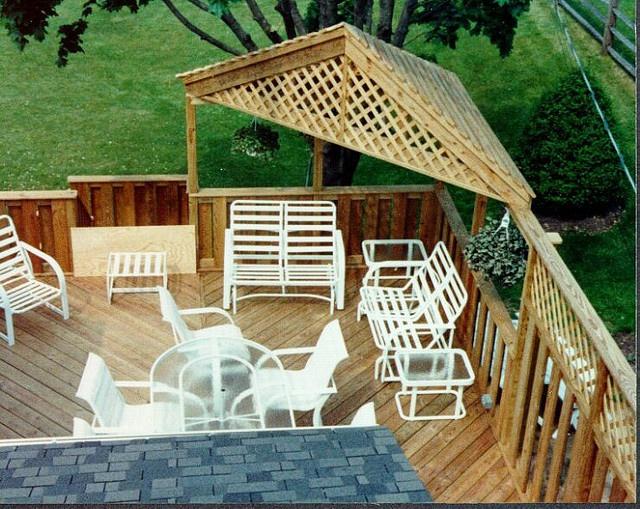 Neat Corner Shade Roof Corner Pergola Outdoor