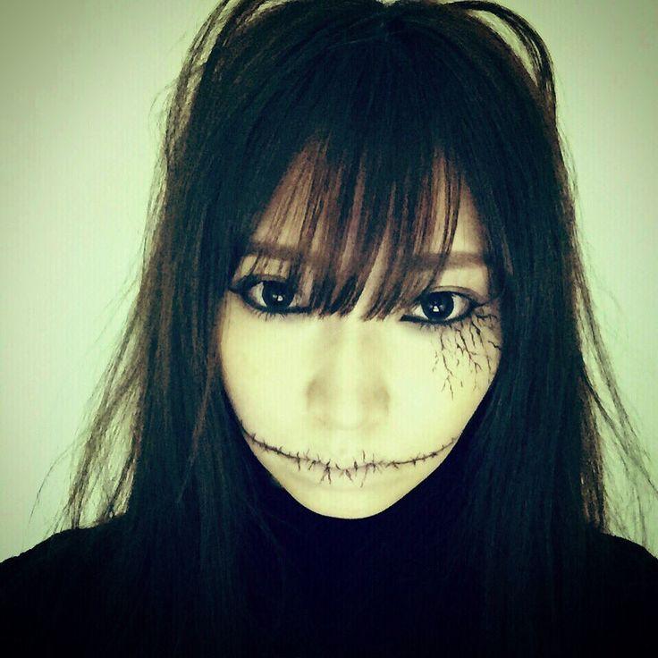 """井上麻里奈さんのツイート: """"ハロウィン皆楽しそう。 井上はハロウィンらしき予定は一切なかったので、お家でやってみたハロウィンメイク。 https://t.co/uCzGV4auau"""""""