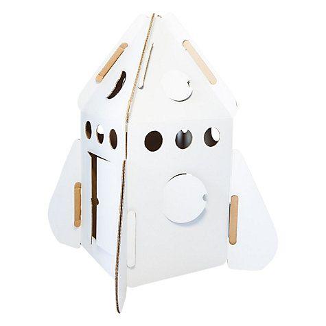 Buy Kidsonroof Cardboard Rocket Online at johnlewis.com