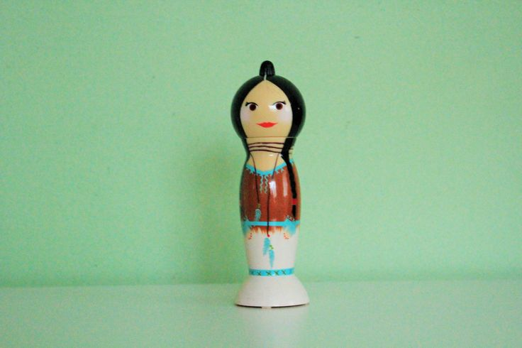 Pylones Indian Girl Doll Salt Pepper Shaker, Native American Figure Mill Grinder by Grandchildattic on Etsy