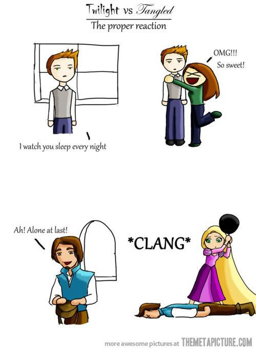 . ah yes...(btw, the Proper reaction is reaction number two...NOT twilight.)
