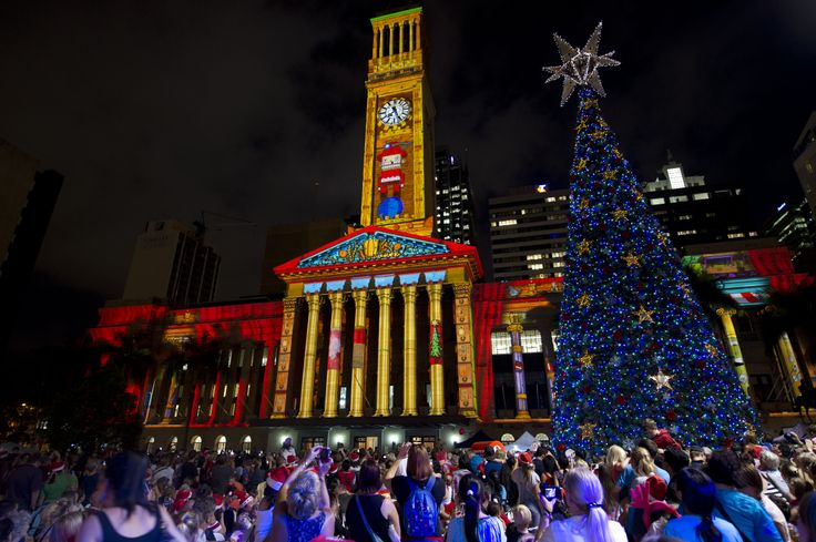 Gold Lotto City Hall Light Spectacular #brisbane #brisbanecity #christmas #bnexmas