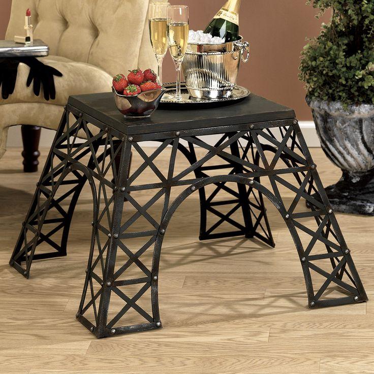 Features:  -Metal construction.  -Black finish.  Shape: -Square.  Design: -Table.  Top Finish: -Black.  Base Finish: -Black.  Base Material: -Metal.  Top Material: -Metal.  Base Type: -3 & 4 Legs. Dim