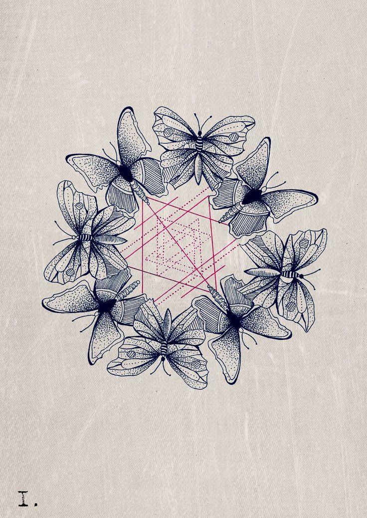 Martineken Blog - Beautiful illustrations by Jessica aka jmbdrawings. I love the geometry on that one