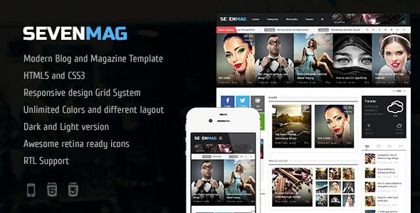 SevenMag - HTML5 Blog/Magazine/Games/News Template