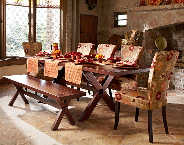 Nolan Extension Tuscan Brown Trestle Table