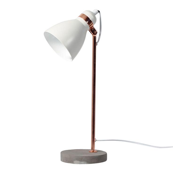 white osca table lamp