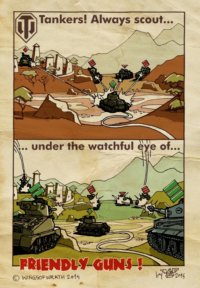 World Of Tanks Instructional Poster I by wingsofwrath on deviantART