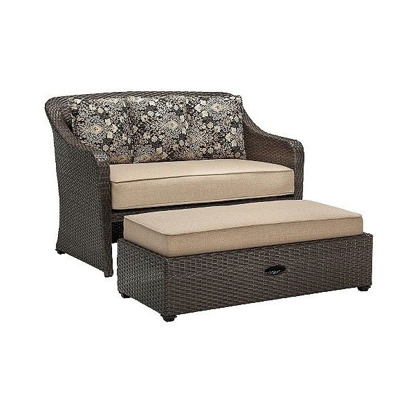 Superior Hanover Outdoor Langdon Hills 2 Piece Cuddle Set ($526) ❤ Liked On Polyvore  Featuring Home, Outdoors, Patio Furniture, Outdoor Patio Sets, Brown,  Oversized ...