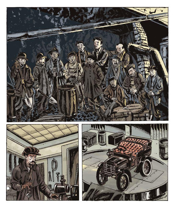 Metallo Malfidano. Tavola 1. Albo conclusivo della seria Storia della Sardegna a fumetti in allegato al quotidiano L'Unione Sarda. 2013.