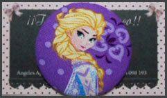 Botón Elsa Frozen El Reino Del Hielo 5cm por Tejidosaloloco en Etsy