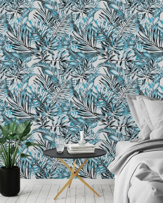 Removable Wallpaper Peel And Stick Wallpaper Self Adhesive Etsy Removable Wallpaper Palm Leaf Wallpaper Peel And Stick Wallpaper