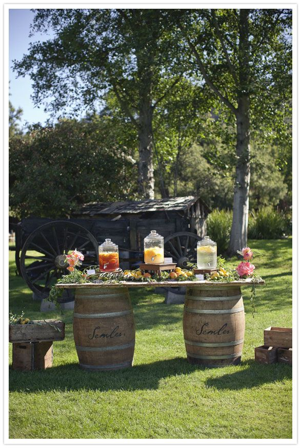 Love this idea for a country wedding...