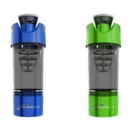 Cyclone Shaker Cup Bottle Green And Blue (Pack of 2)