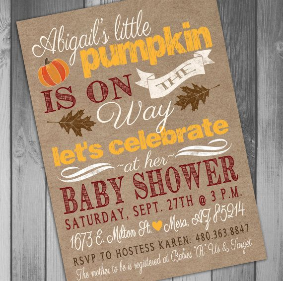 Fall Baby Shower Little Pumpkin Baby Shower by CLaceyDesign